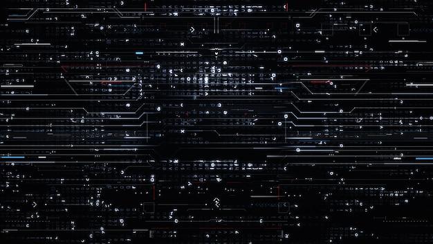 Circuito microchip realistico