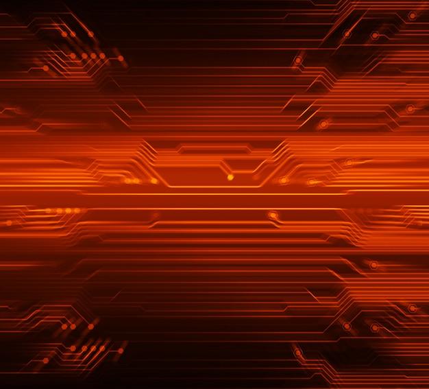 Circuito rosso cyber futuro tecnologia concetto di fondo