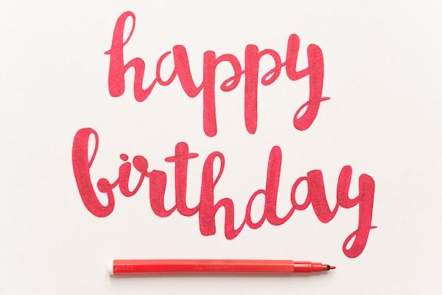 Citazione ispiratrice 'happy birthday' per biglietti di auguri e poster.