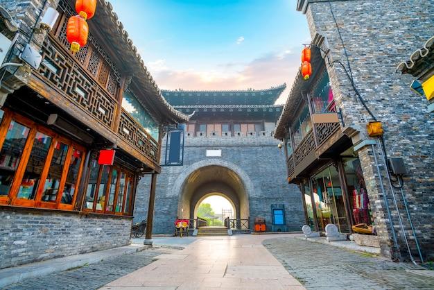 Città antica, vecchia via di dongguan, yangzhou, cina