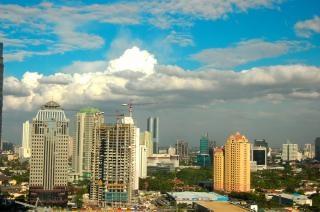 Città blu, nube