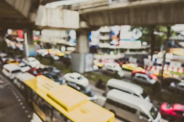 Città con marmellata di traffico