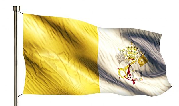 Città del vaticano bandiera nazionale isolato 3d sfondo bianco