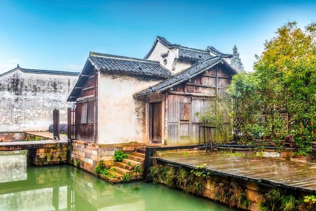 Città dell'acqua di wu zhen in porcellana