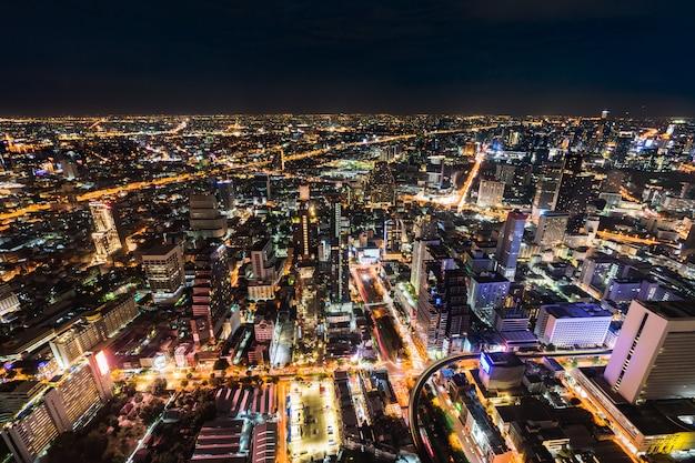Città di bangkok di notte, thailandia