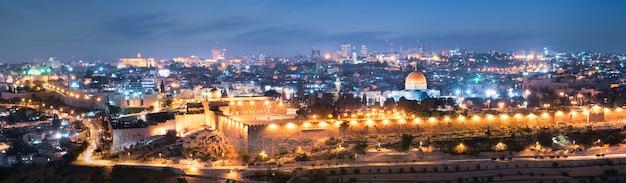 Città di gerusalemme di notte