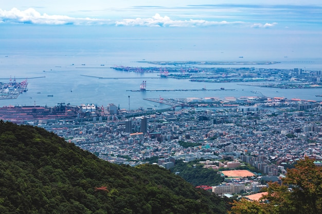Città di kobe nel monte rokko