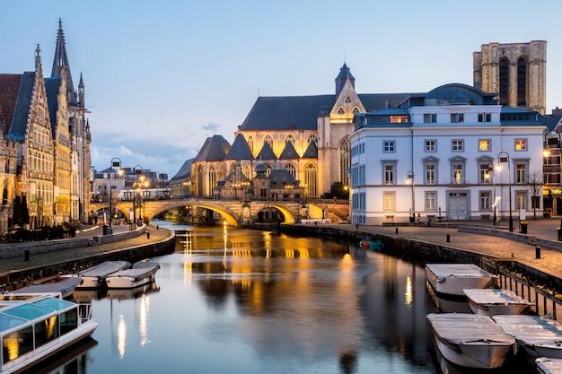 Città vecchia di gand, belgio