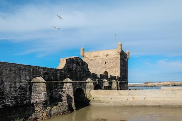 Cittadella di essaouira vicino all'oceano atlantico, marocco.