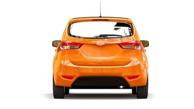 City car arancione con superficie lucida