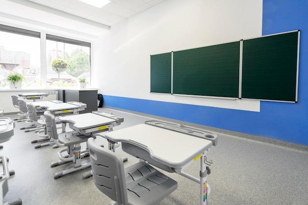 Classe vuota senza studenti