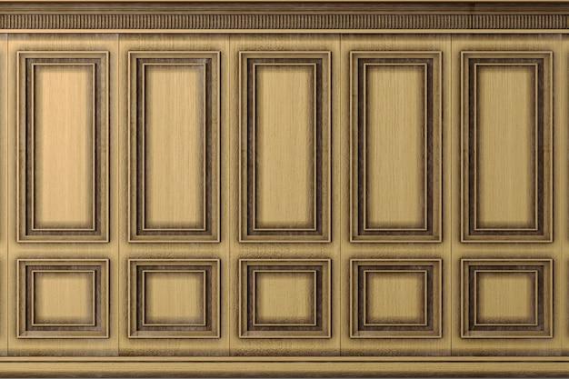 Classici pannelli vintage in legno di quercia