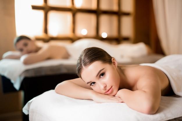 Cliente del salone spa