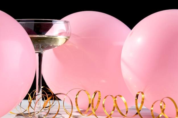 Close-up bicchiere di champagne