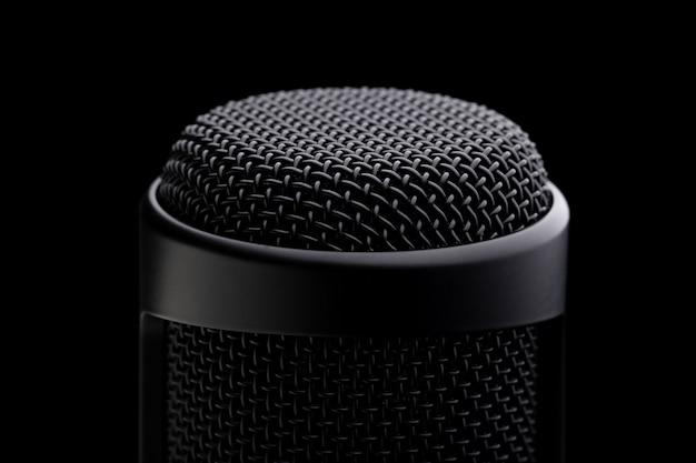 Close up condensatore studio microfono