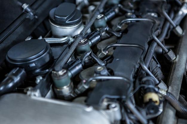 Close-up del motore di un'auto