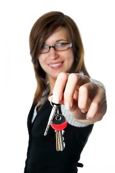 Close-up della mano alcune chiavi