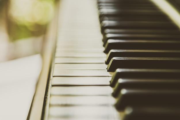 Close-up della tastiera del pianoforte