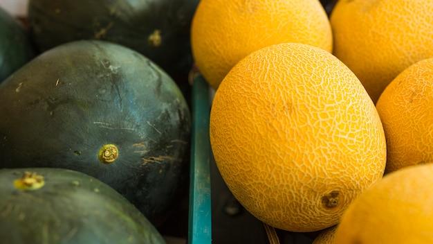 Close-up di anguria e melone