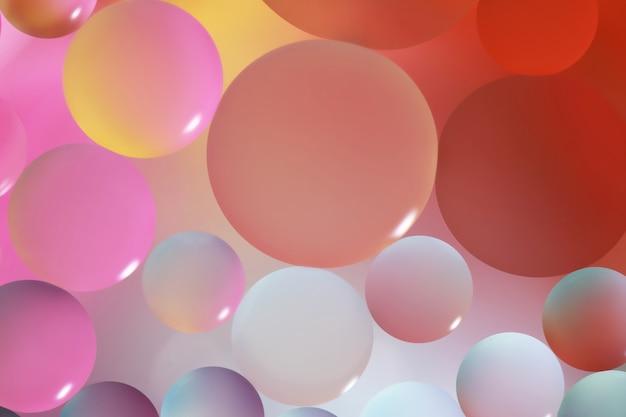 Close up di bolle di olio astratta illuminazione leggera.