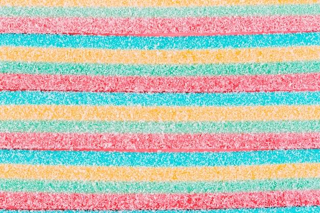 Close-up di caramelle di zucchero dolce