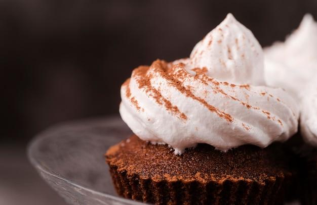 Close-up di cupcake con glassa
