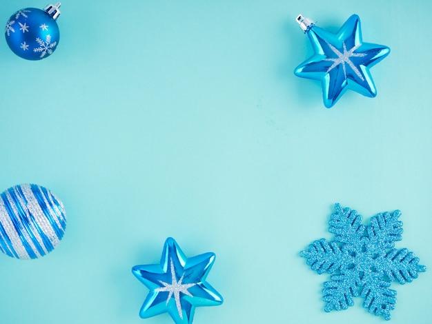 Close-up di decorazioni natalizie