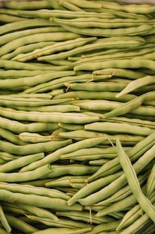 Close-up di fagiolini verdi