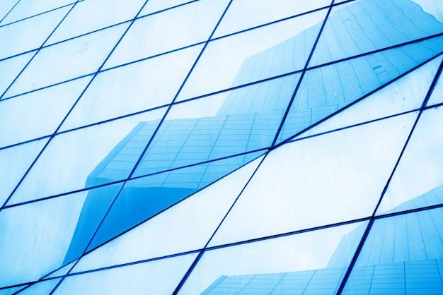 Close-up di finestre di vetro dei grattacieli