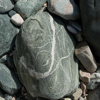 Close-up di rocce, wild cove, norris point, parco nazionale di gros morne, terranova e labrador, can