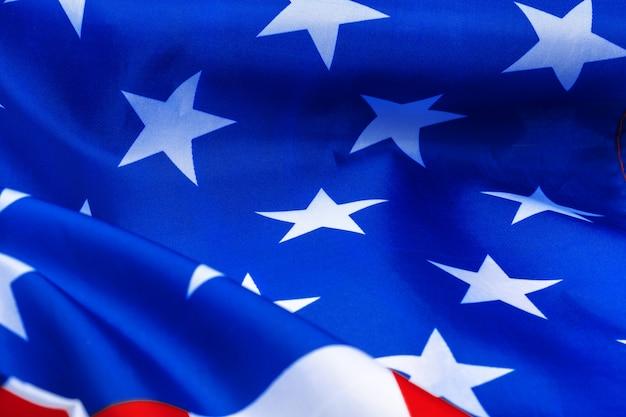 Close-up di sventolando la bandiera americana