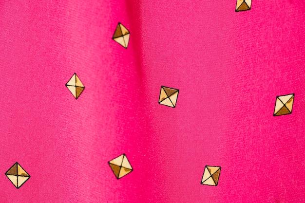 Close-up di tessuto rosa vintage