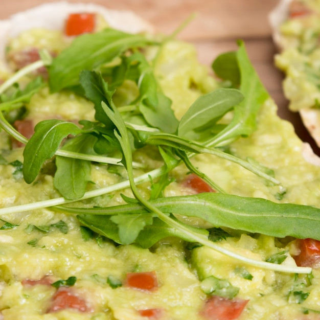 Close-up guacamole
