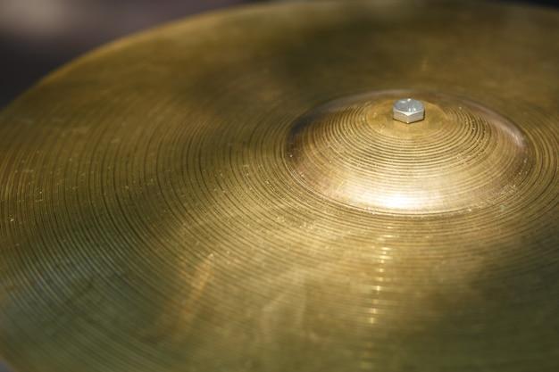 Close up tamburo piatto.