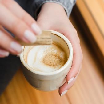 Close-up tazza di caffè