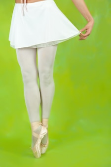 Closeup di ballerine gambe