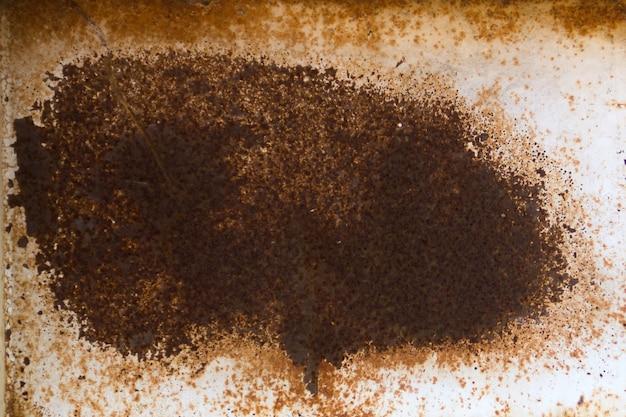 Closeup di macchia di ruggine