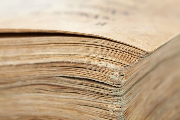 Closeup di vecchio libro