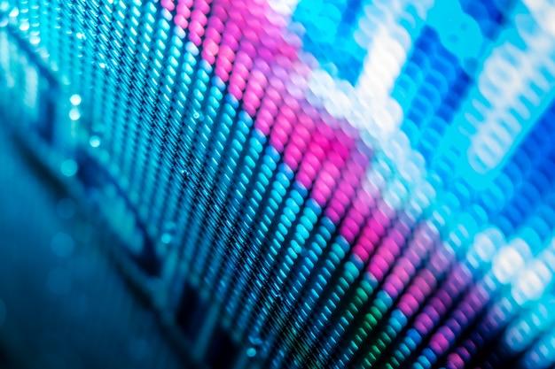 Closeup led schermo sfocato. led soft focus sullo sfondo. ideale astratto per il design.