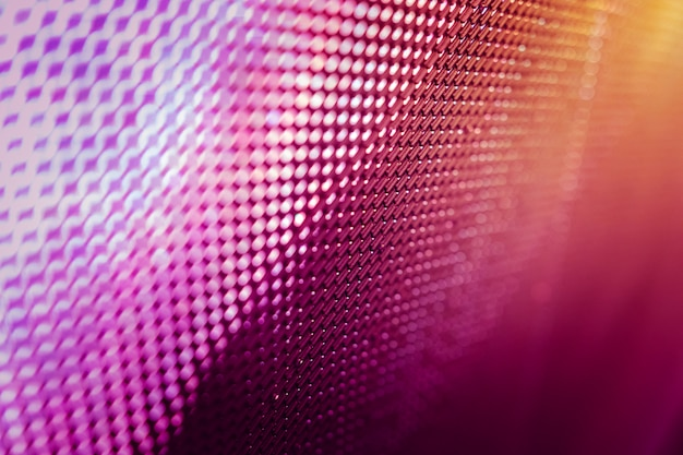 Closeup led schermo sfocato. led soft focus sullo sfondo.