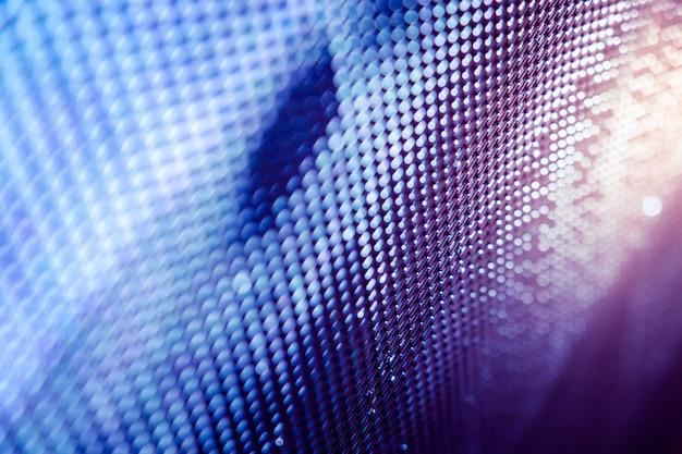 Closeup led schermo sfocato. led soft focus sullo sfondo