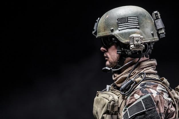 Closeup soldato ritratto