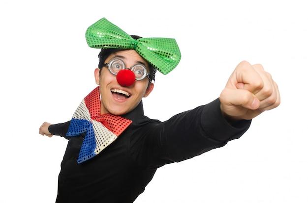 Clown isolato su sfondo bianco