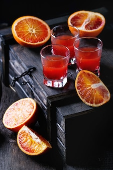 Cocktail con arance rosse