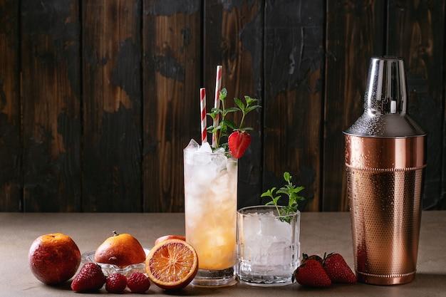 Cocktail di arance rosse
