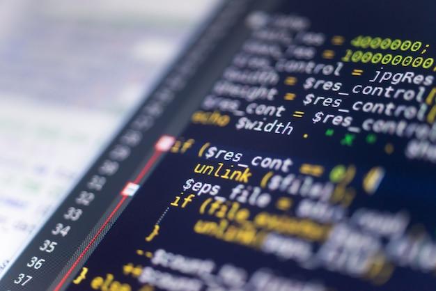 Codice php su un monitor
