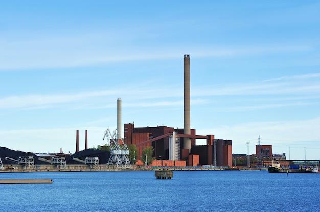 Cogenerazione nel centro di helsinki, in finlandia