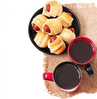 Colazione con caffè e polpette