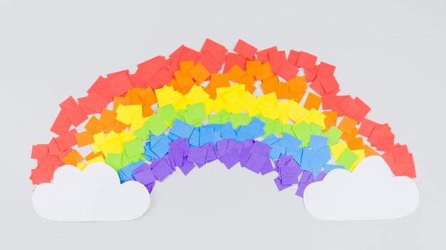 Collage variopinto dell'arcobaleno di giorno di orgoglio