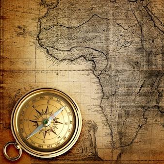 Collana di orologi d'epoca sulla vecchia mappa del mondo